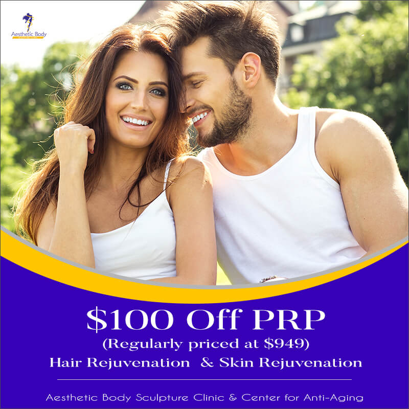 Medical Aesthetics $100 OFF PRP Hair Rejuvenation and Skin Rejuvenation