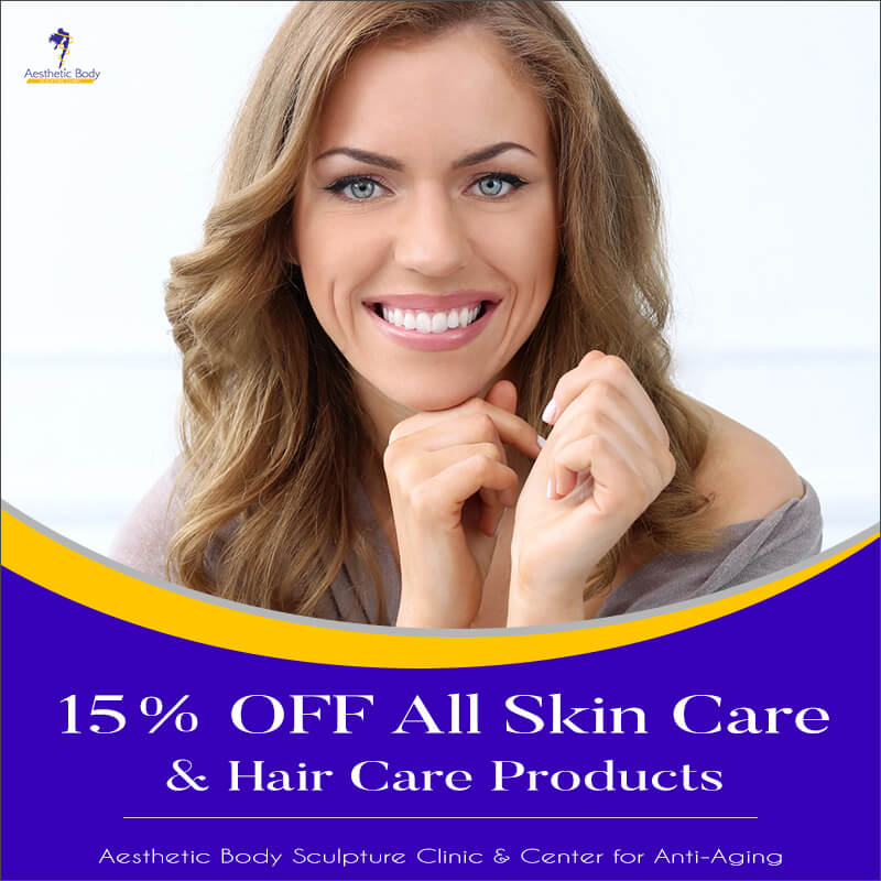 15% OFF All Skin Care and Hair Care Products