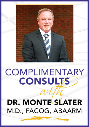 Complimentary Consults with Dr. Monte Slater for hormone replacement therapy are free