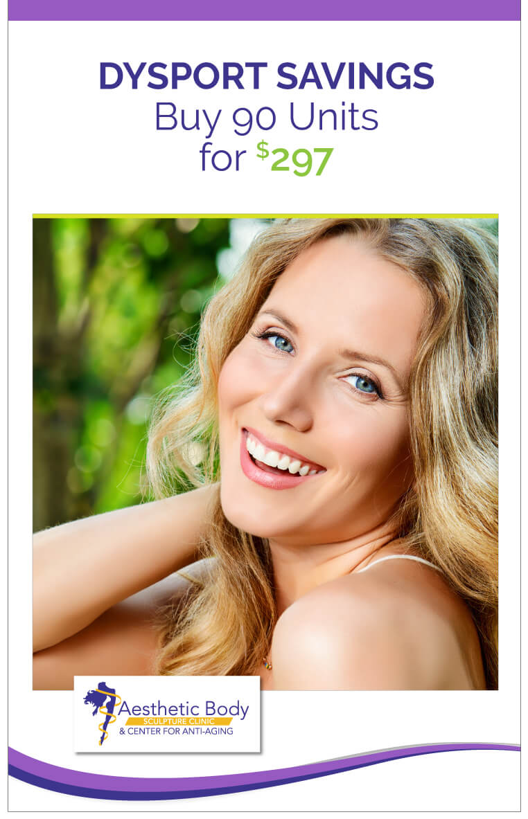 Lunch-time Facelift can be combined with injectables SlaterMD Specials Save on Dysport