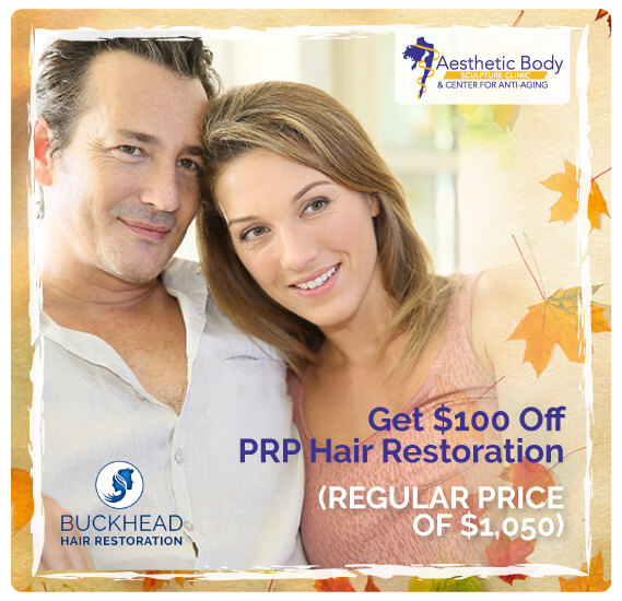 SlaterMD September 2018 Special Get $100 Off PRP Hair Restoration