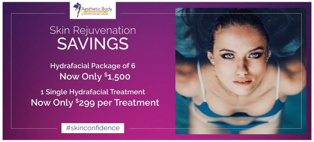 Beautiful Skin can be yours with HydraFacial Skin Rejuvenation Treatments. January and February Atlanta 2019 Special