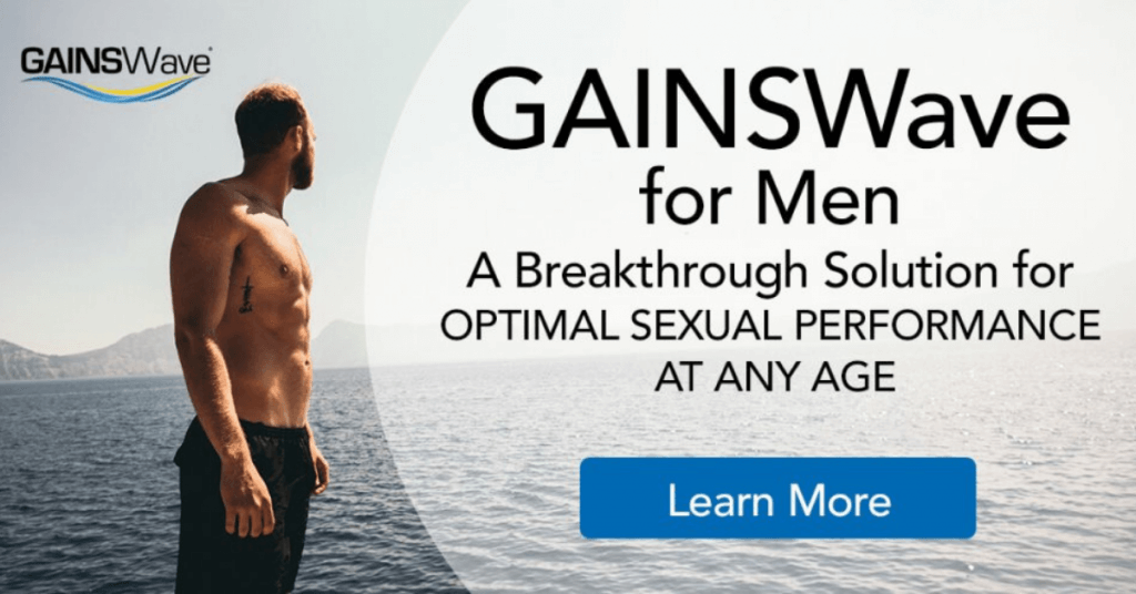 GAINSWave for men Sound Wave Therapy to treat ED in men.