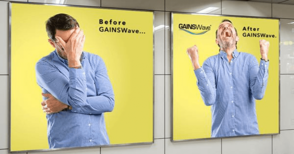 The benefits of GainsWave offered by Dr. Monte Slater include: Harder Erections -Improved Sexual Performance- Increased Confidence